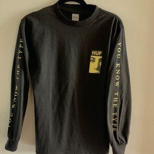 HUF black long sleeve shirt